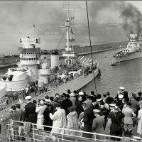"""battleships """"Conte di Cavour"""" and """"Giulio Cesare"""", Napoli, 1938 :: Александр"""
