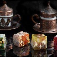Лукум и турецкий кофе. Съемка для меню в ресторане Галата. :: Елена Мордасова