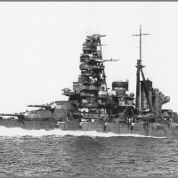 "I.J.N. battleship ""Haruna"" undergoes trials following her second reconstruction, 1934 :: Александр"