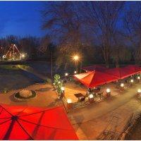 Парк Победы вечерком вспыхнул красным лоскутком! :: Антон Сологубов