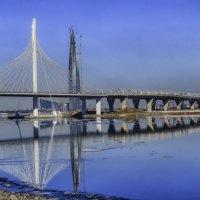 мост ЗСД и я башня Газпрома :: Георгий
