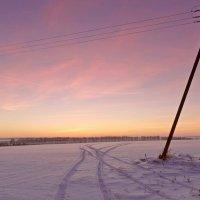 Зимний вечер после захода солнца :: Александр Бойченко