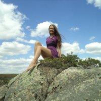 Девушка на скале :: Вячеслав & Алёна Макаренины