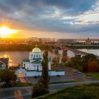 Закат в Нижнем Новгороде :: Владимир Пресняков