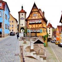 развилка Плёнлейн (Plönlein), самый растиражированный открыточный вид городка, его негласный символ :: backareva.irina Бакарева
