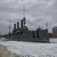 Крейсер Аврора во льду :: Максим Хрусталев