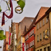 кованные уличные вывески являются достойным украшением ротенбургских улиц. :: backareva.irina Бакарева