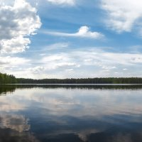 Облака над озером :: Nika Polskaya