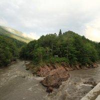 Адыгея,слияние рек Белая и Киша :: ninell nikitina