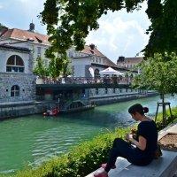 На Набережной реки  Любляницы :: Татьяна Ларионова