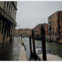 Причальные столбы Венеции...  им грустно под дождем... :: Vladimir Kolesnikov Aevik