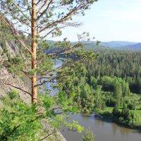 Просторы речки Мана с высоты скал :: Ирина Ермолаева