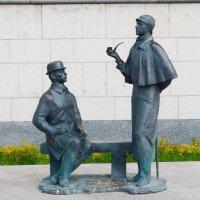 Памятник Шерлоку Холмсу и доктору Ватсону в Москве :: Galina Leskova