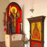 Знаменитая деревянная резная фигура Николы Можайского :: ИРЭН@ Комарова