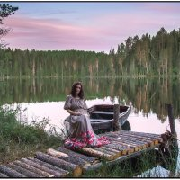 На озере Долгом. :: Валентин Кузьмин