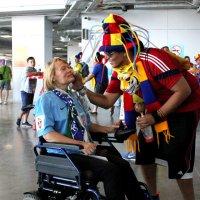 Я и колумбиец на матче Колумбия Сенегал.28 июня. :: Ольга Зубова