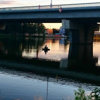 Рыбалка на закате :: Ольга Богачёва