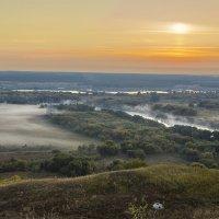 Утро на меловых горах Сентябрь 2015 :: Юрий Клишин