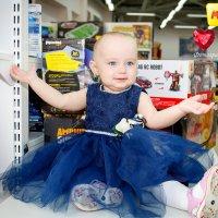 малышка в синем платье :: Фотограф Наталья Рудич Новацкая