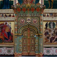 Иконостас Спасо-Преображенского собора Соловецкого монастыря. Царские врата :: Елена Павлова (Смолова)