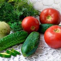 Огурцы и помидоры :: Наталия Лыкова