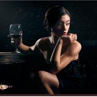 Вино навевает на мысли. (работа выполненная на графическом планшете Huion.) № 34 :: Anatol Livtsov