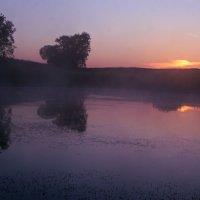 Выткался над озером алый свет зари ... :: Евгений Юрков