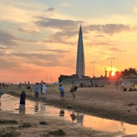 Вечер на пляже. :: vlad alferow