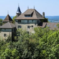 замок деревни Монтаньё (Montagneu) :: Георгий