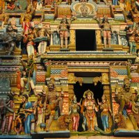 Так много богов! Фрагмент. Тамильский храм. :: ИРЭН@ .