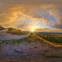 Закат. Пейзаж горы Змейка. :: Евгений Ромащенко