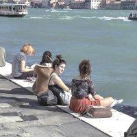 Venezia. Aprile mezzogiorno sul canale della Giudecca. :: Игорь Олегович Кравченко