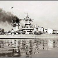 "German battlecruiser ""Gneisenau"" running sea trials, May-August 1938. :: Александр"
