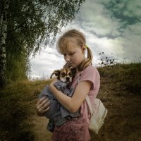 Мадонна со щенком. :: Александр Белый