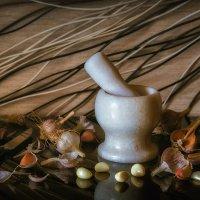 Натюрморт со ступкой и чесноком :: Сергей В. Комаров