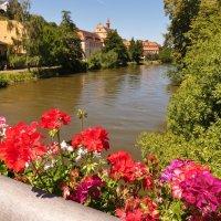 Бамберг ,река Регнитц неспешно  несет  свои  воды :: backareva.irina Бакарева