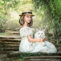 Девочка и кот :: Олеся Циганок