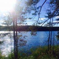 """""""И скользит по озеру утреннее солнышко, оставляя в зеркале лучезарный след"""" :: Ирэн"""