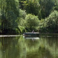 Рыбак на Волге :: Evgeniya