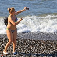 Модель на пляже. :: barsuk lesnoi