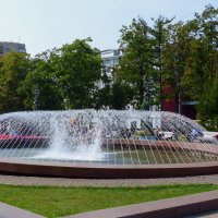 фонтан в Москве. :: Пётр Беркун