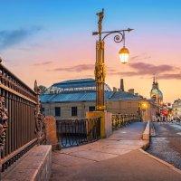 Ограда Летнего сада и фонарь :: Юлия Батурина