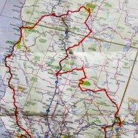 Маршрут нашего путешествия по Калифорнии (США) :: Юрий Поляков