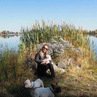 Встреча на берегу Днепра :: Тамара Бедай