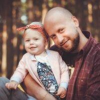 Папа и дочка :: Lyuda Kr.