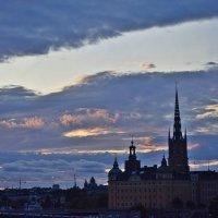 Вечернее небо над Стокгольмом :: Татьяна Ларионова