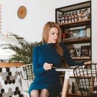 Анна в кофейне :: Мария Кудрина