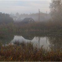 Туманное утро в деревне :: Александр Максимов