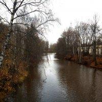 Река Охта. Вид вверх по течению с Большого Ильинского моста :: Елена Павлова (Смолова)