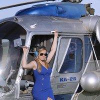 Небо, вертолет, девушка... :: Владимир